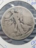 1936-D walking liberty half 90% silver key date