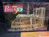 Puzz 3 D Norte Dame Cathedral. Apache Woodcraft construction kit.