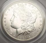 1887 Morgan Silver Dollar ANACS Certified MS63+ Satin White Beauty Blazing