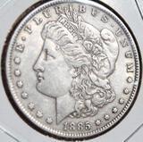 1885 Morgan Silver Dollar Original au/bu Collector Coin 90%
