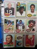 Binder Full of 1960s 1970s Football Cards in Pages