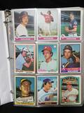 Binder Full of 1970s Baseball Cards in Pages