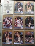 90-91 NBA Hoops basketball card binder