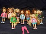 Ty Lil Ones 9 dolls in lot.