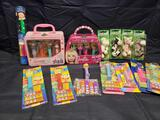 Pez Hello kitty set. Barbie SpongeBob and more.