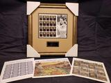 Legends of Hollywood Betty Davis 1st day of issue framed Stamp display and 3 other sets.