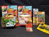 Toy Story action figures pencil and eraser. Dick Tracy Sunglasses.