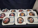 Bradford Exchange The Heart of plate collection. Elvis 6 in. Monthly plates.
