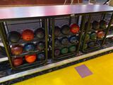 table bowling ball stand 8ft long 42in tall 30in deep