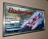 Budweiser mirror 50in wide 27in Tall