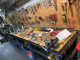 Large workbench and contents