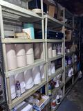 Custodial supplies and shelving