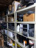 Miscellaneous electronics parts wiring shelving