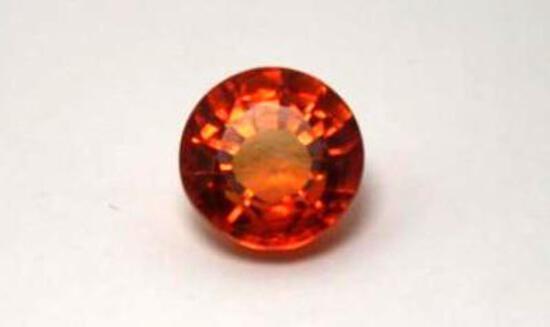 7.20ct big pumpkin unheated sapphire gemstone round cut untreated