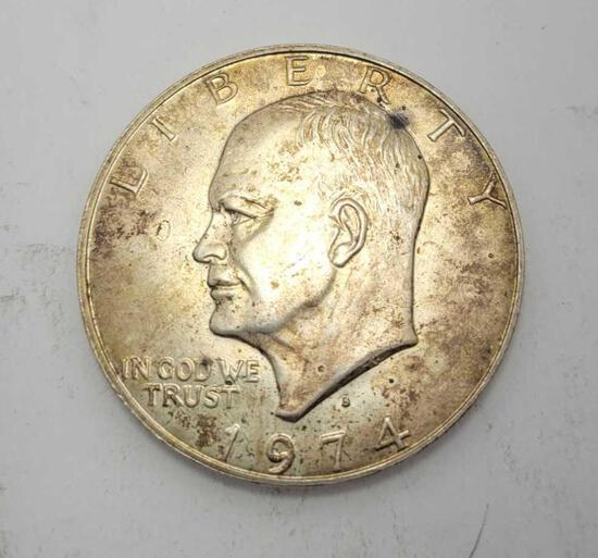 1974 Eisenhower silver dollar 90% silver