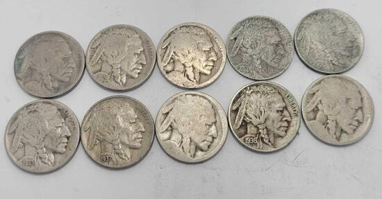 Buffalo nickels .50 cent face value