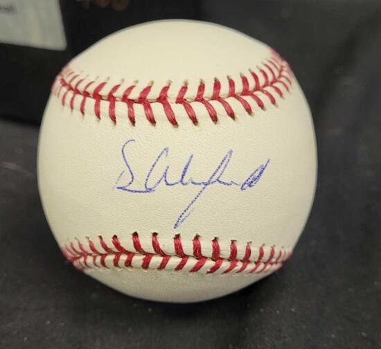 Autographed baseball saying Dave Winfield