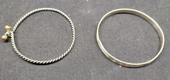 Silver bracelet 2 bracelets