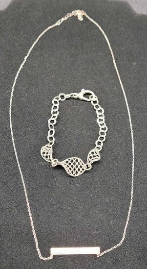 Silver necklace & bracelet 925