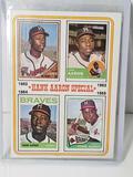 1974 Topps Hank Aaron Special Baseball Card