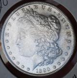 Morgan silver dollar 1890 s/s micro s bu++ Frosty blazing better date