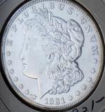 Morgan silver dollar 1921 D Frosty blazing bu semi pl better date