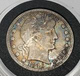 1916 Barber quarter 90% silver