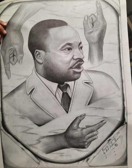 Pallet of Martin Luther King Jr. Sketch Prints