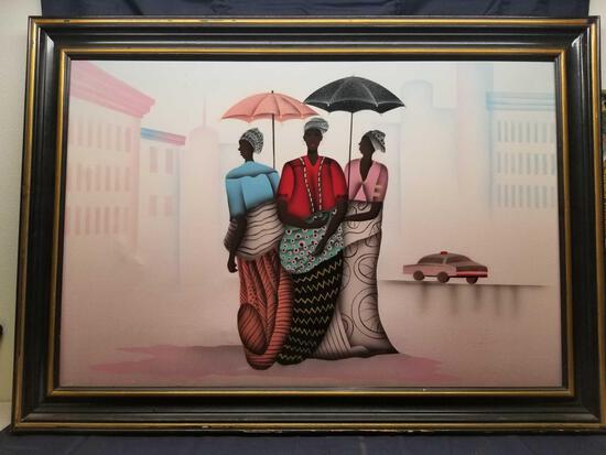 Framed Artwork on Canvas Africana