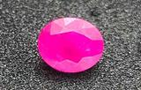 Pink/Red Oval Ruby natural earth mined gem stone top quality 2.48