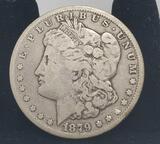 Carson city 1879 Morgan silver dollar 90% full face & date