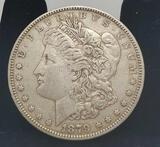 1879 Morgan silver dollar 90% full face & date