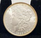 1886 Morgan silver dollar 90%