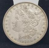 1882 Morgan silver dollar 90%