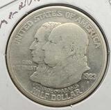 1923 Monroe & Adams troy silver half