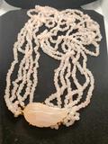 White Quartz Designer Fashion Necklace