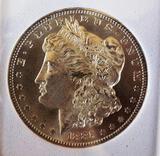 Morgan silver dollar 1885 o gem bu blazing glassy mirrors proof like stunner satin white