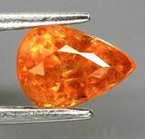 1.26ct spesaratite garnet rare fire fill orange stunning beauty