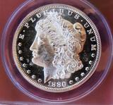 1880-S ANACS Morgan Silver Dollar MS-63 obvpl glassy cameo certified stunner