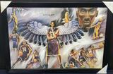 Kobe Bryant framed painting on canvas 27in tall 60in wide
