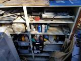Large Wood Metal Shelving Cabinet 3 Units