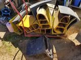 Rolling Cart Full of Rubber Chocks