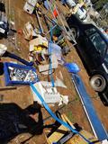 Section of Plumbing Supplies Testers Wheelbarrow