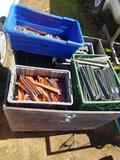 Crate Full of Tent Stakes