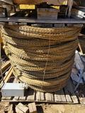Pallet of Rolled up Razor Wire