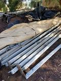 Entire Pile of Alluminum Scaffolding Tent Poles Tarp