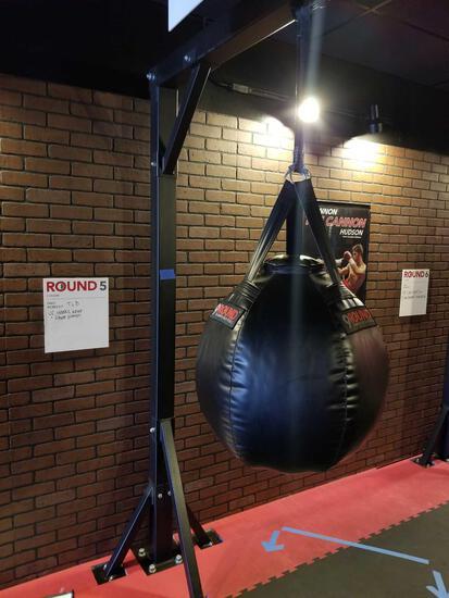 Kicking Uppercut Punching Bag on Frame