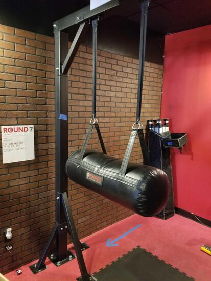 Hanging Horizontal Punching Bag on Frame