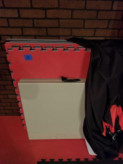Foam Mats Folding Table 7 Units