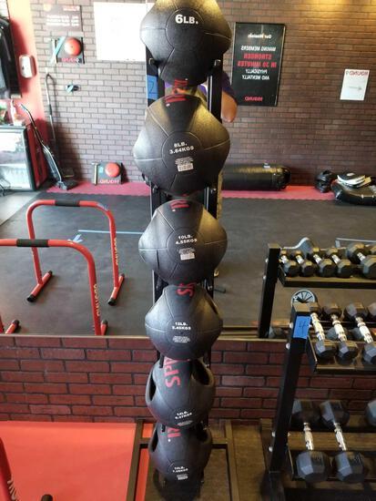 SPRI Weight Medicine Balls 6 units And Rack